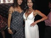 Tgirl celebrities at the TEA show in California having lots of fun