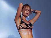 Anastasiya Scheglova in see through lingeries for God save Queen Campaign 2020