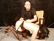 Spanking the wife in stockings and corporal punishment of Little Miss Chaos