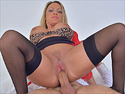 Chesty stockings milf sex action