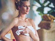 Toni Garrn sexy & topless staying at home shoot