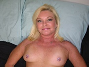 Amateur Mature Blonde MILF With Natural Tits Modeling Nude