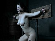 Anastasia Rose busty is bound and exposed for toying by maledom