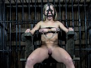 Dia Zerva blonde submissive is caught to be used and metal bound