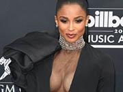 Ciara deep sexy cleavage at 2019 Billboard Music Awards in Las Vegas