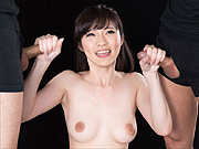 Japan cock jerking beauty on her knees