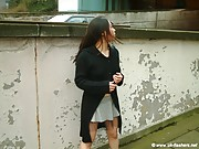 Teen Tigerr Benson Public Flashing and outdoor striptease of beautiful Japanese