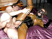 Fetish Party Rubber Sex and kinky masked blowjob live of lifestyle fetishist