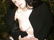 BBW Emmas public peeing in stockings and outdoor public nudity of curvy cutie