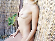 Blonde Natasha Voya Nude Outdoors and sexy stripping voyeur outside