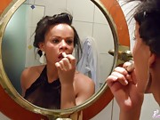 Joyce Kelly getting ready for a night out and does a check out on her