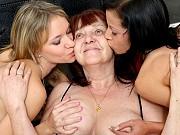Teens Natali Sweets and Angel Piaff seduced by lesbian mature teacher