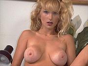 Classic blonde pornstar Kelly O'Dell posing nude