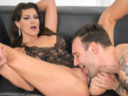 Busty MILF Becky Bandini takes a massive cock