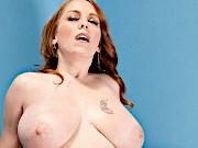 Redhead MILF Boobzilla Gets Creampied