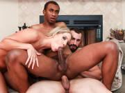 Jaxton Wheeler gets into an interracial bisexual threesome