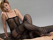 Lusty Asian Kanna Otowa footjob in lingerie