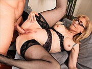 Mature cougar Nina Hartley fucked