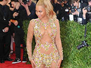 Beyonce Knowles sexy in see through dress