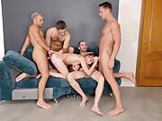 Russian porn model Linda Siren group anal with DAP