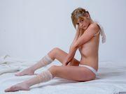 Pretty little angel Audrey posing nude