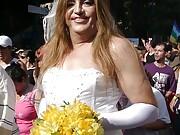 Nikki and the shemales at the LGBT pride parade