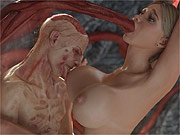 3D tentacle porn with a zombie