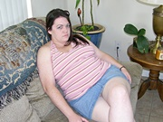 BBW Brunette Modeling Nude And Showing Up Her Skirt