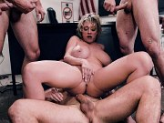 Dee Williams busty blonde milf teacher double fucked by students