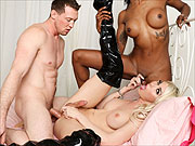 Interracial Transsexual Threesome