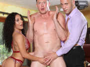 Steamy threesome sex with Wolf, Pierce, and Liv