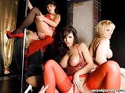 Glamorous footballers wives enjoy a houseparty orgy